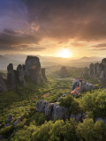 Greece, Thessaly, Meteora, Holy Monastery of Rousanou Stampa fotografica di Michele Falzone