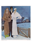 Art Deco Winter Evening Poster