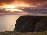 The Midnight Sun Breaks Through the Clouds at Nordkapp, Finnmark, Norway Photographic Print by Doug Pearson