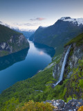 The Majestic Geiranger Fjord Illuminated at Dusk, Geiranger, More Og Romsdal, Norway Photographic Print by Doug Pearson