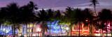 Art Deco Area with Hotels at Dusk, Miami Beach, Miami, Florida, Usa Fotografie-Druck von Peter Adams