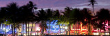 Art Deco Area with Hotels at Dusk, Miami Beach, Miami, Florida, Usa Photographic Print by Peter Adams
