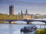Big Ben, Houses of Parliament and River Thames, London, England Photographic Print by Jon Arnold