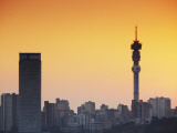 View of Johannesburg Skyline at Sunset, Gauteng, South Africa Photographic Print by Ian Trower