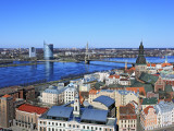 View of City from St; Peter's Church, Riga, Latvia, Photographic Print
