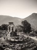 Greece, Delphi (Unesco World Heritage Site), Sanctuary of Athena Pronaia, the Tholos Photographic Print by Michele Falzone