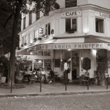 Cafe, Quai De L'Hotel De Ville, Marais District, Paris, France Photographic Print by Jon Arnold