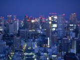 Skyline from Shiodome, Tokyo, Japan Photographic Print by Jon Arnold