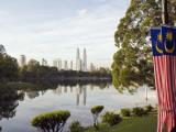 South East Asia, Malaysia, Kuala Lumpur, Petronas Towers, Lake Titiwangsa Photographic Print by Christian Kober