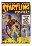 Startling Stories The Black Flame (Robot) Art