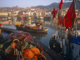 Fishing Boats in the Harbour, Whitby, North Yorkshire, England Photographic Print by Paul Harris