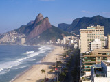 Brazil, Rio De Janeiro, Ipenema Beach Looking Towards Leblon Photographic Print by Jane Sweeney