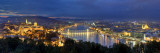Hungary, Budapest, Castle District, Royal Palace and Chain Bridge over River Danube Impressão fotográfica por Michele Falzone