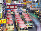 Mini-Buses Parked on Fa Yuen Street, Mong Kok, Kowloon, Hong Kong, China Photographic Print by Ian Trower