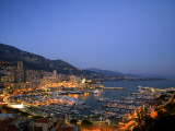 Monaco, Cote D'Azur; an Overview of the Glamorous Municipality Led by the Grimaldi Family Photographic Print by Ken Sciclina