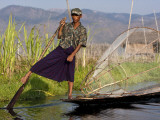 Myanmar, Inle Lake Photographic Print by Katie Garrod