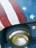 A Truck Painted with the Us Flag on a Roadside in New Hampshire, Usa Photographic Print by Dan Bannister