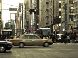 Taxi in Ginza, Tokyo, Japan Photographic Print by Jon Arnold