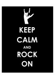 Keep Calm and Rock On (Hand) Posters