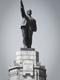 Russia, the Golden Ring, Kostroma, Lenin Statue Photographic Print by Jane Sweeney