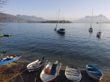 Europe, Italy, Lombardy, Lakes District, Boats on Lake Maggiore Photographic Print by Christian Kober