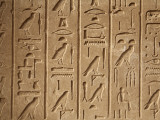Egypt, Karnak; Hieroglyphics on One of Many Decorated Blocks at Karnak Photographic Print by Niels Van Gijn