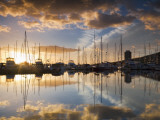 Australia, Tasmania, Hobart; Sunrise over Sandy Bay Marina Photographic Print by Andrew Watson