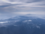 Aerial View of Central Honshu with Mt; Fuji on the Horizon, Japan Photographic Print by Jon Arnold