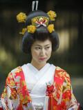 Asia, Japan, Tokyo, Wedding Ceremony at Meiji Jingu Shrine Photographic Print by Christian Kober