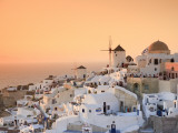 Greece, Cyclades, Santorini, Oia Town and Santorini Caldera Photographic Print by Michele Falzone
