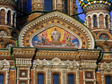 Russia, St; Petersburg; a Detail of the Restored Church of Christ the Saviour Photographic Print by Ken Sciclina