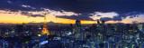 Skyline from Shiodome, Tokyo, Japan Fotografisk tryk af Jon Arnold