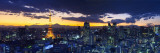 Skyline from Shiodome, Tokyo, Japan Fotografie-Druck von Jon Arnold
