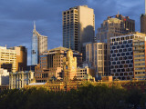 Australia, Victoria, Melbourne; City Skyline at Dawn Photographic Print by Andrew Watson