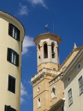 Spain, Menorca, Mahon; Belltower on Ornate Building in the Menorcan Capital Photographic Print by John Warburton-lee