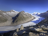 Switzerland, Valais, Jungfrau Region, Aletsch Glacier from Mt; Eggishorn (Unesco Site) Photographic Print by Michele Falzone