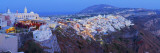Volcanic Landscape and Main Town of Fira, Santorini (Thira), Cyclades Islands, Greece Photographic Print by Gavin Hellier