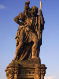 Czech Republic, Prague; One of the Thirty Statues on Charles Bridge Photographic Print by Ken Sciclina