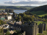 Uk, North Wales; Conwy; View of the Town and Castle with the Conwy River Behind Photographic Print by John Warburton-lee