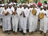 Kenya; a Joyful Muslim Procession During Maulidi, the Celebration of Prophet Mohammed&#39;s Birthday Photographic Print by Nigel Pavitt