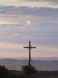 France, Tarn, Dourgne; Cross Marking the Original Location of the Chapelle De St Ferreol Photographic Print by Katie Garrod