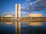 Brazil, Distrito Federal-Brasilia, Brasilia, National Congress of Brazil Photographic Print by Jane Sweeney