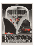 Art Deco Panhard Poster Giclée-tryk