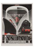 Art Deco Panhard Poster Gicléedruk