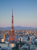 Tokyo Tower and Mt; Fuji from Shiodome, Tokyo, Japan Photographic Print by Jon Arnold
