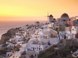 Greece, Cyclades, Santorini, Oia Town and Santorini Caldera Photographic Print by Michele Falzone