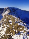 Winter Walking and Climbing on Hellvelyn, the Lake District, Cumbria Photographic Print by Paul Harris