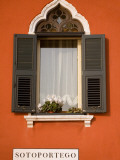 Italy, Veneto, Venice; a Typical Ventian Window with 'Persiane' - Shutters Photographic Print by Ken Sciclina