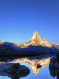 Switzerland, Valais, Zermatt, Lake Stelli and Matterhorn (Cervin) Peak Photographic Print by Michele Falzone