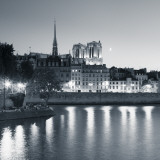 Notre Dame and Ile De La Cite, Paris, France Photographic Print by Jon Arnold